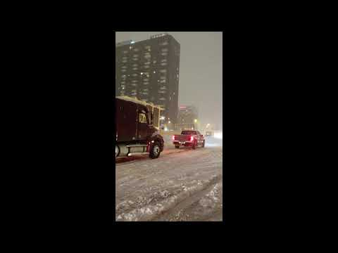 Dusty - Chevy Pulls an 18-Wheeler Through the Snow Here in St. Louis