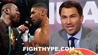 EDDIE HEARN EXPLAINS WHY NO INTEREST IN DEONTAY WILDER IN RING AFTER JOSHUA VS. PARKER