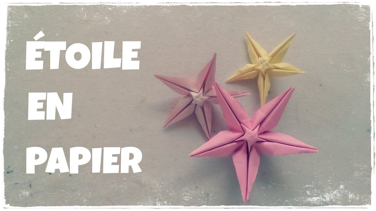 Origami Facile Comment Faire Une Etoile En Papier Etoile En Origami Youtube