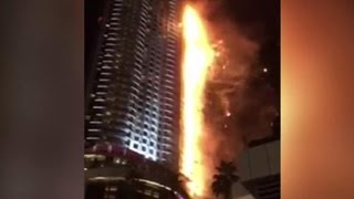 дубай видео 2015 пожар