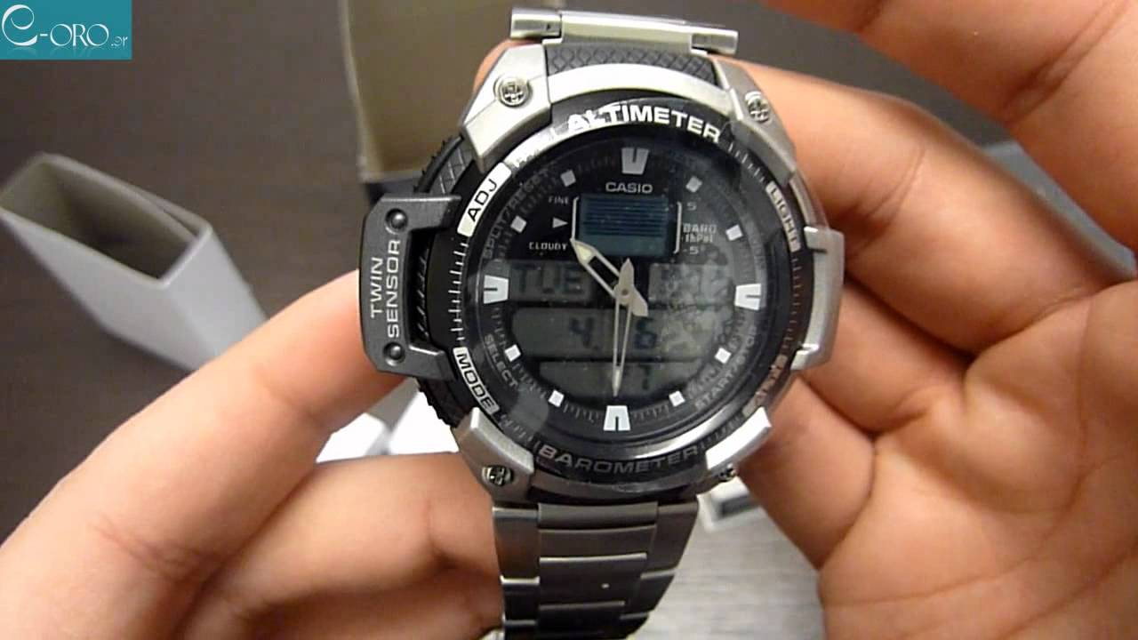 2e52c806dad CASIO Collection Mens Watch SGW-400HD-1BV - E-oro.gr - YouTube