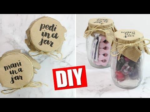 DIY MANI PEDI IN A JAR - EASY CHRISTMAS GIFT IDEA | 25 DIYs Of Christmas DAY 13