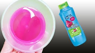 NO GLUE SLIME!, Testing No GLUE Shampoo Slime Recipes