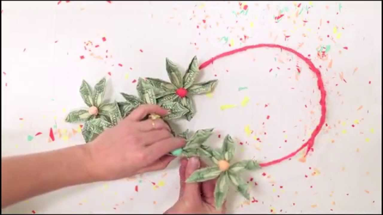 Origami Money Flower Lei Youtube