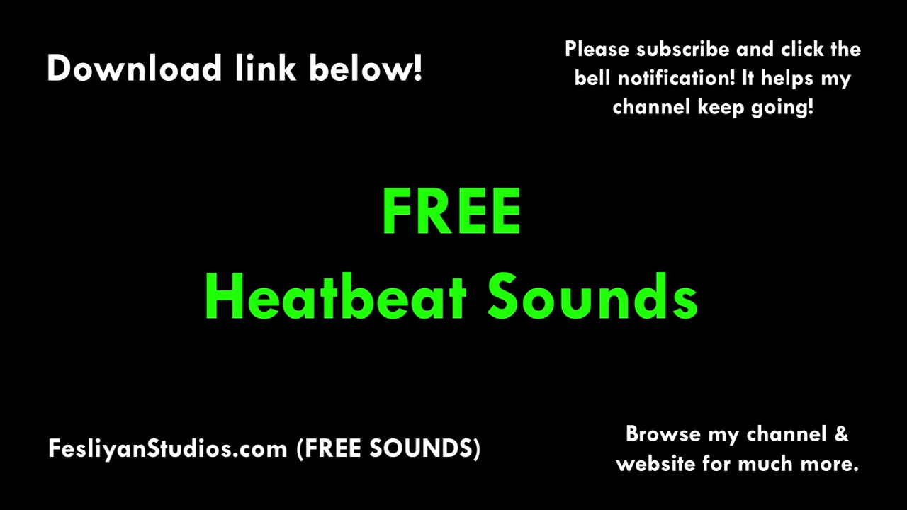 Free Heartbeat Sound Effects | MP3 Download | FStudios