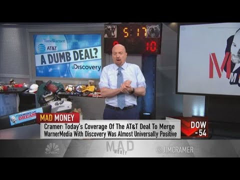 Jim Cramer hits AT\u0026T after move to merge WarnerMedia, Discovery