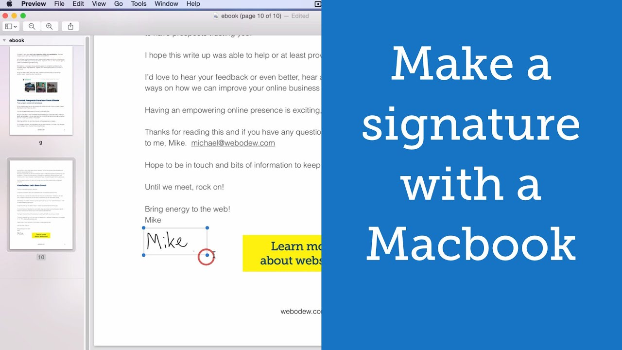 How to make a Digital Signature with a Macbook - YouTube
