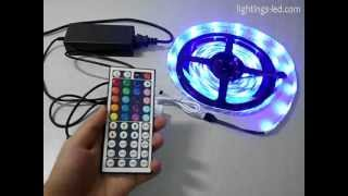 3528 RGB waterproof LED strip + power supply + RGB controller(3528 RGB epoxy glue waterproof IP65 LED strip + 12V 3A 36W power supply + IR44 key RGB controller For more information, please visit our website for your ..., 2012-08-12T18:58:22.000Z)
