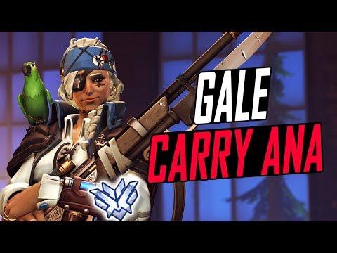 GALE CARRY ANA! 40 KILLS! HE'S INSANE! [ OVERWATCH SEASON 6 TOP 500 ]