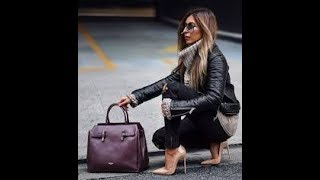 Winter Wardrobe With Leather Jacket Outfits