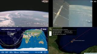 African And European Coastlines - NASA/ESA ISS LIVE Space Station With Map - 489 - 2019-02-18