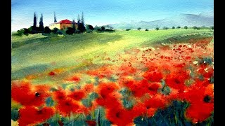 You'll see a very simple landscape to do with watercolor technic for beginners