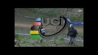 Sam Hill CRASH at UCI MTB World Champs 2013