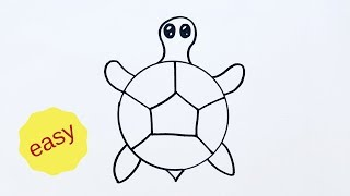 turtle draw easy cartoon beginners very