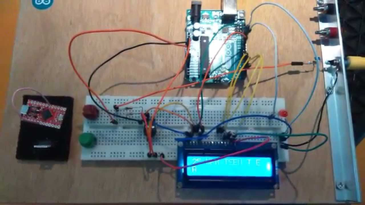 Arduino uno with morse decoder application st test
