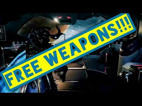 WARFRAME FREE WEAPONS AND WEAPON SKIN! | Warframe PSA 2017