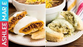 How to Make Tamales - 2 different fillings - red pork, green chicken