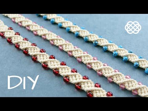DNA WAVE BRACELET TUTORIAL BY MACRAME SCHOOL