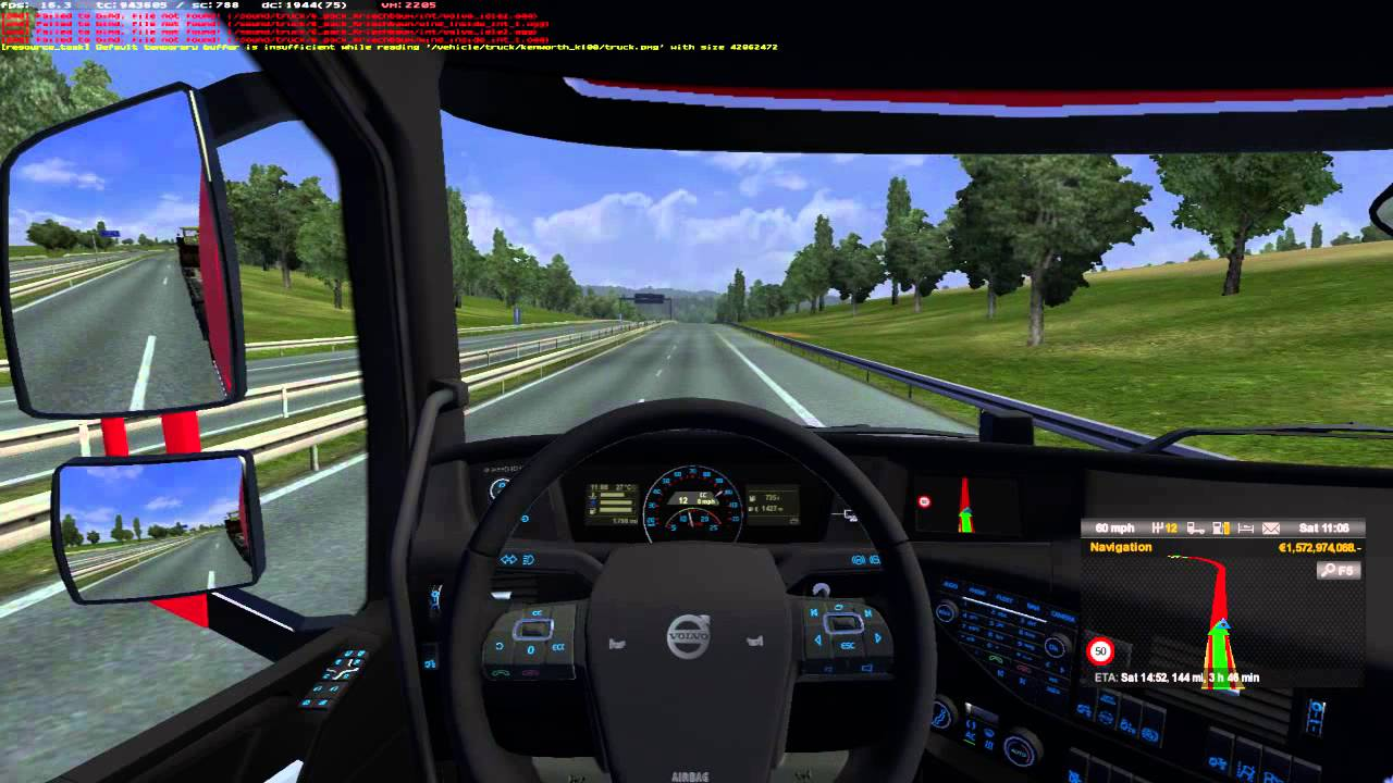 volvo fh16 euro truck simulator 2 d sseldorf to hamburg youtube. Black Bedroom Furniture Sets. Home Design Ideas