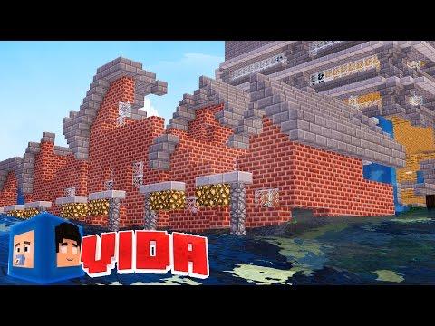 Minecraft : CASA DESTRUIDA PÓS TSUNAMI !!! #195 (MINECRAFT VIDA )
