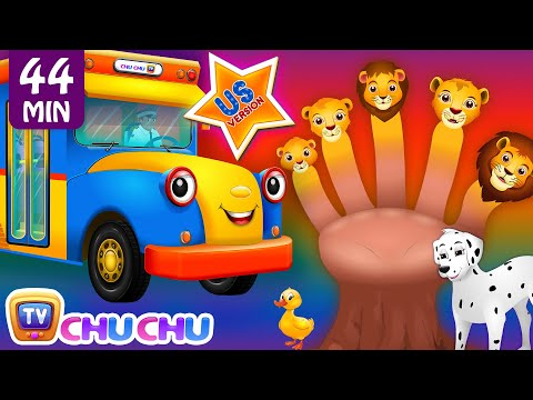 Thumbnail: ChuChu TV Nursery Rhymes - US Voice Vol.4 | Wheels on the Bus, Lion Finger Family & More Kids Songs