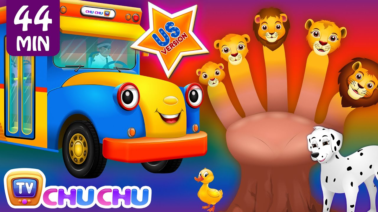 ChuChu TV Nursery Rhymes - US Voice Vol.4 | Wheels on the Bus, Lion Finger Family & More Kids So