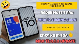 Android 10 Update Redmi Note 7 Pro | RN7/7S/NOTE 8? | MIUI 12.0.1.0 UPDATE Come Soon Good News