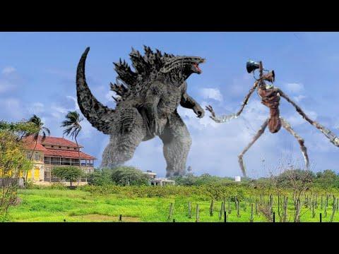 Download Godzilla Vs Siren Head In Real Life Fight Scene