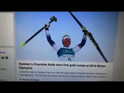 Charlotte Kalla Of Sweden Wins 1st Gold Medal Of 2018 Winter Olympics