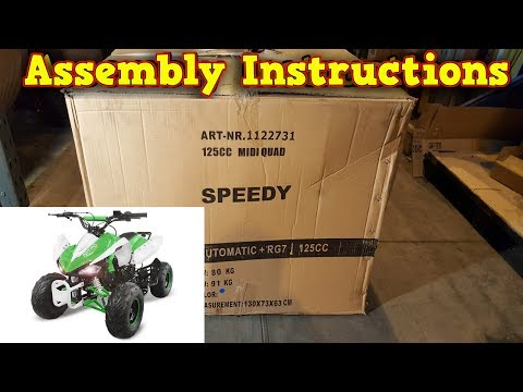 Quad 125 / 110cc - Unboxing - Full Assembly - Instructions
