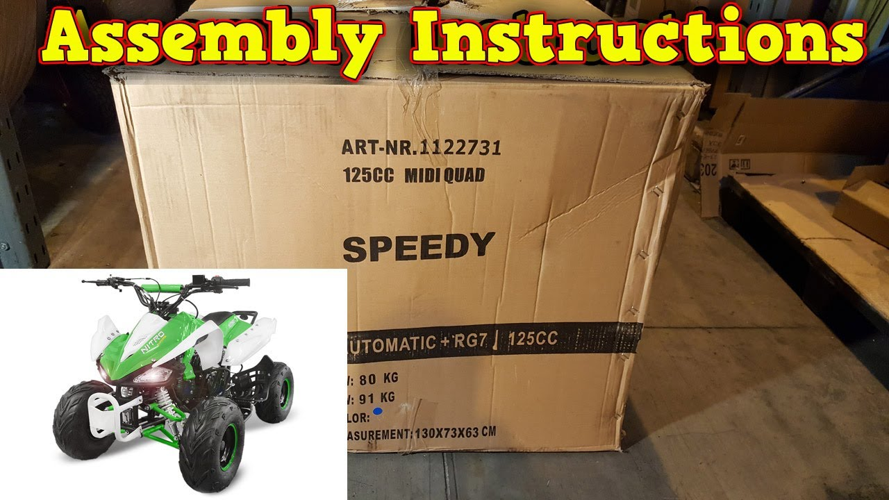medium resolution of quad 125 110cc unboxing full assembly instructions