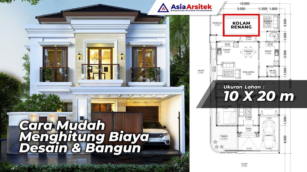 Desain Rumah Mewah 2 Lantai Style Tropis Modern Dengan Kolam Renang Di Lahan 10 X 20 Meter Youtube