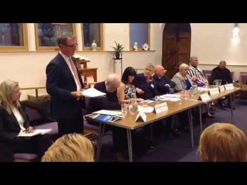 Nigel Evans MP speaks at Ribble Valley Election forum in Whalley