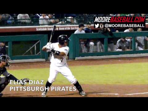 Elias Diaz, Pittsburgh Pirates, Swing Mechanics, @SlowMoMechanics @MooreBaseball
