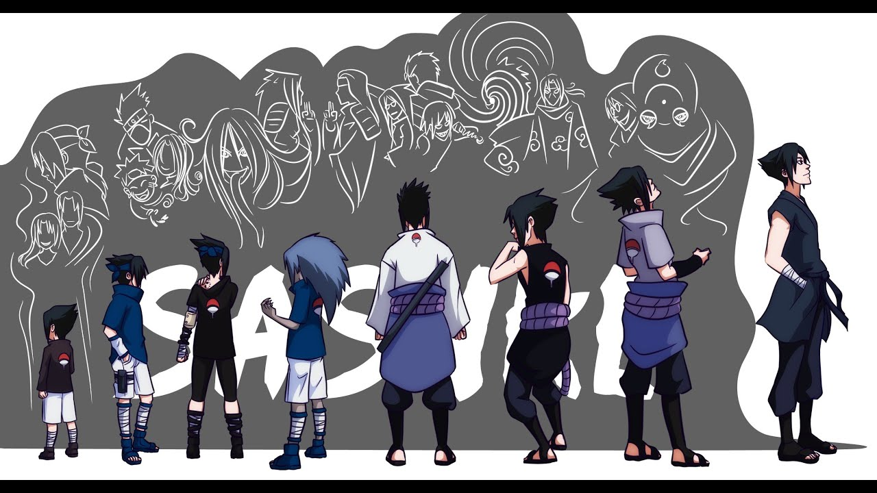 Naruto: Uchiha Sasuke's Evolution - all forms - YouTube