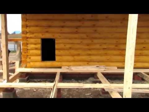 Дом из бревна 6 на 6 с верандой / Оставлен под усадку / Дом 6 на 9 из бревна