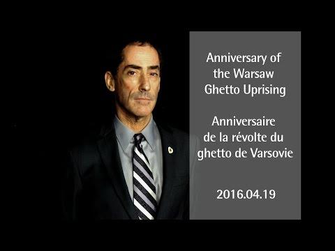 Anniversary of the Warsaw Ghetto Uprising • Anniversaire de la révolte du ghetto de Varsovie