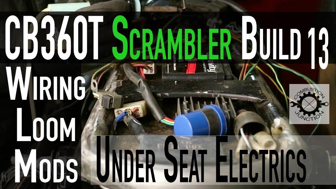 cafe racer scrambler build under seat electrical loom wiringcafe racer scrambler build under [ 1280 x 720 Pixel ]
