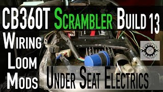 CAFE RACER SCRAMBLER BUILD, Under seat Electrical Loom, Wiring Harness - Honda  CB360 Ep13 - YouTubeYouTube