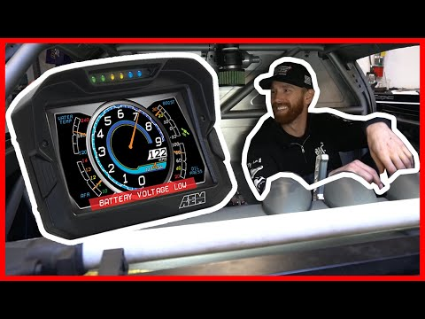 CHRIS FORSBERG Sets Up A CD-7 Digital Dash In His Formula Drift Z Car!