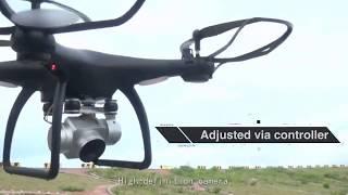 Drone Zangão Helicóptero Com Câmera Em HD DRONE Profissional Dobrável Quadcopter Duração Da Bateria