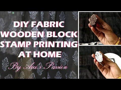 Hand Block Printing using Wooden Blocks #DIY Block Printing at home #Fabric painting on Dupatta