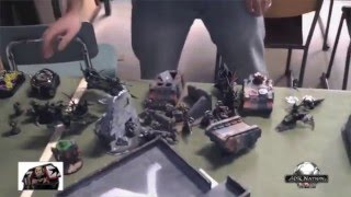 OLD Warhammer 40k Battle Report Dark Eldar vs Space Marines 1500pts