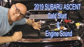 SUBARU ASCENT Cold Engine Start and Exhaust Sound