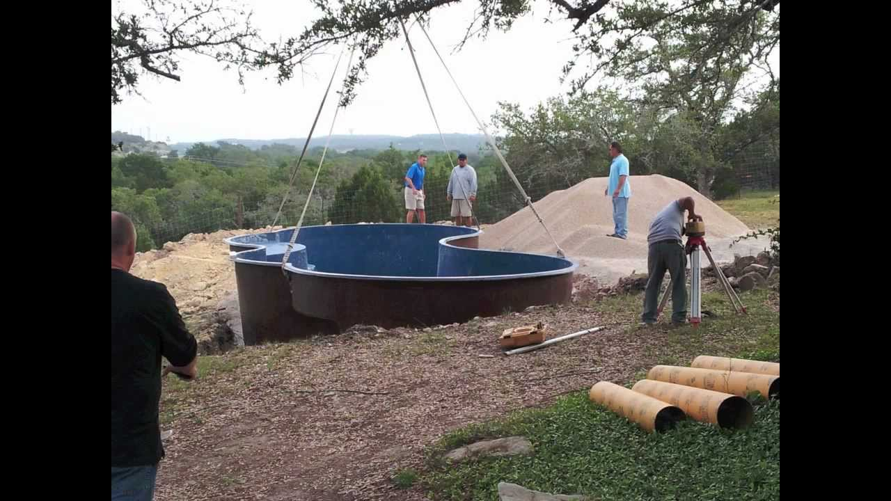 How to Install a Fiberglass Swimming Pool - YouTube