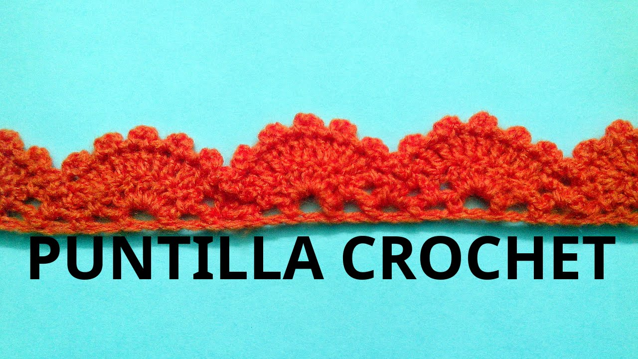 PUNTILLA n° 13 en tejido #crochet o ganchillo tutorial paso a paso ...