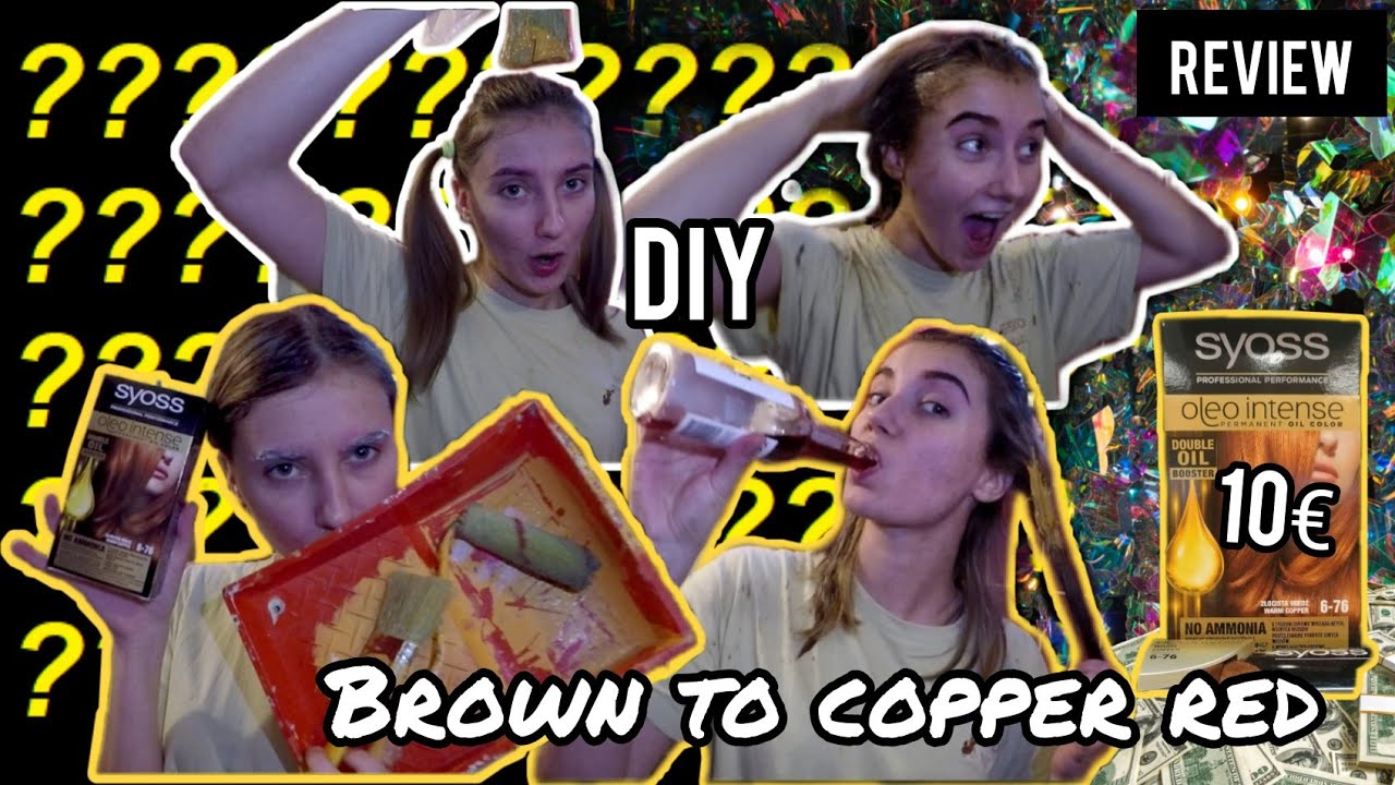 Dying My Hair From Brunette To Intense Copper Red At Home | Syoss Oleo Intense Review: SCAM OR NOT