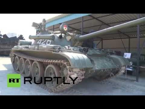 Russia: See strongman Savkin pull 335,000kg T-54B tank