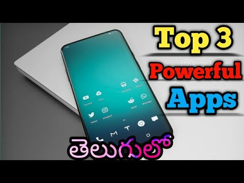 Top 3 Powerful Apps you must try || In Telugu