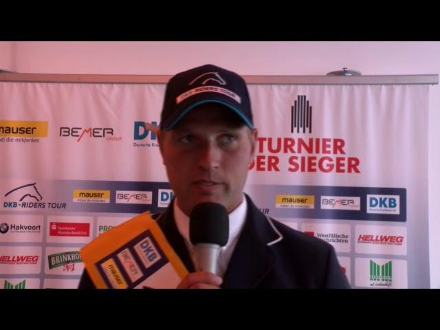 Glücklicher Sieger - Jens Baackmann